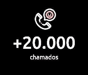 + de 20.000 chamados