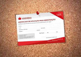 certificado de garantia e qualidade