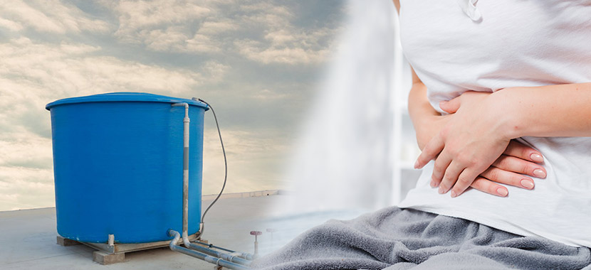 Falta de limpeza da caixa d'água e doenças